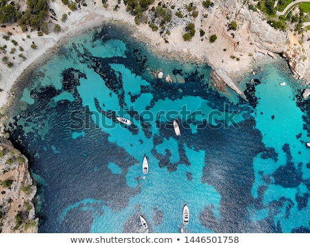 Drone point of view directly from above Palma de Mallorca rocky  Stock photo © amok