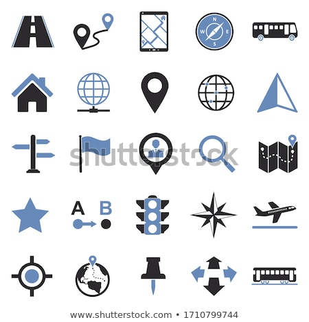 vector · isometrische · stad · navigatie · icon · laag - stockfoto © netkov1