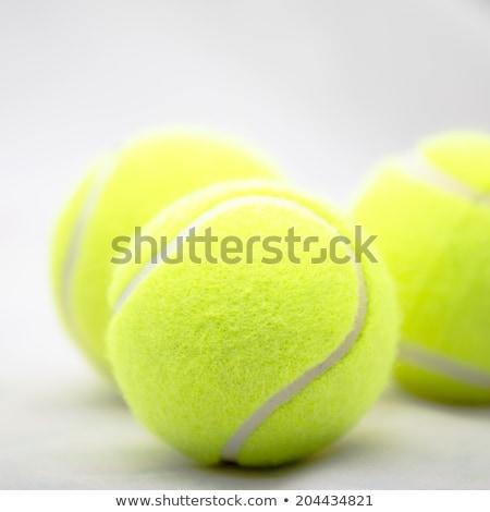 желтый теннисный мяч спортивных площадка Теннисная ракетка спорт Сток-фото © pressmaster