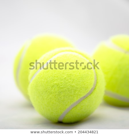 Geel tennisbal sport speeltuin tennisracket sport Stockfoto © pressmaster