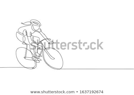 Kerékpáros bicikli sportos nő életstílus vektor Stock fotó © robuart