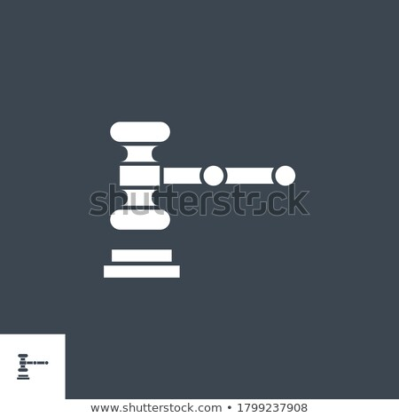 auction gavel related vector glyph icon stock photo © smoki