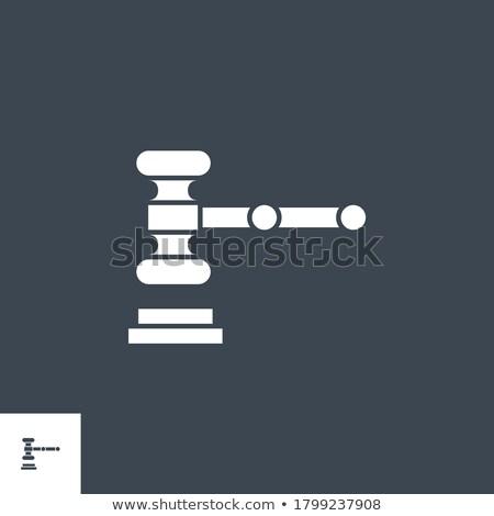 Auction Gavel related vector glyph icon. Stock photo © smoki