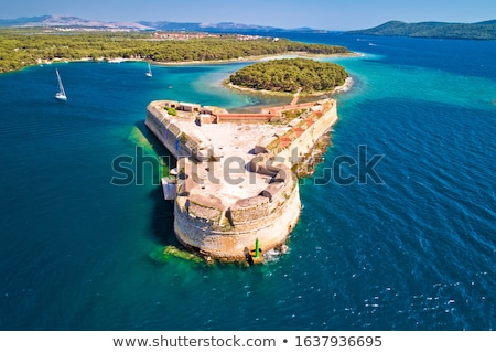Saint Nikola fortress overlooking Sibenik bay entrance Stock photo © xbrchx
