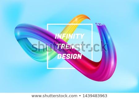Colorido fluido laço bandeira abstrato teia Foto stock © SArts