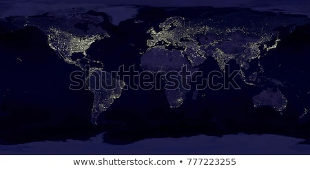 Lumières de la ville carte du monde Inde image monde Photo stock © NASA_images