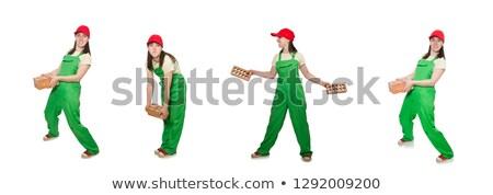 Frau · industriellen · Arbeitnehmer · halten · sexy · Bau - stock foto © elnur