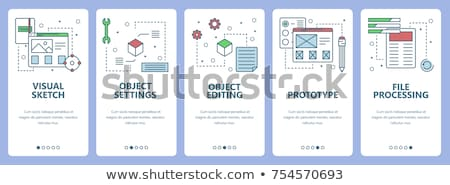 Organization of Working Process Website Page Set Stock photo © robuart