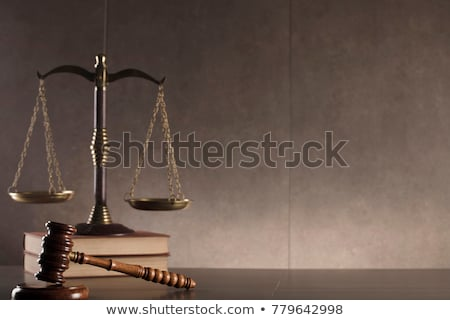 judge gavel with scales of justice business people and male law stock photo © freedomz