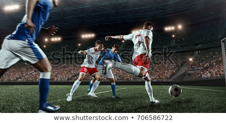 football players men wearing uniform playing game stock photo © robuart