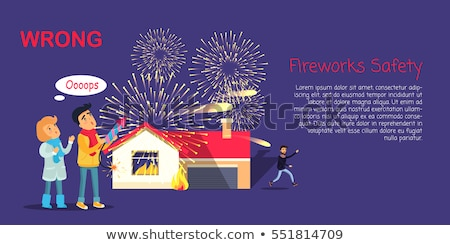 Fireworks Safety. Wrong Usage of Pyrotechnics Stock photo © robuart