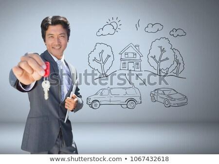 бизнесмен ключевые домой цифровой композитный Сток-фото © wavebreak_media