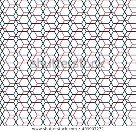 六角形 ナノテクノロジー 分子の グリッド 暗い ベクトル ストックフォト © kyryloff