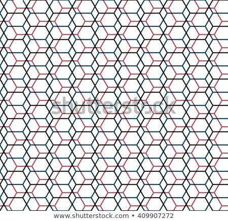Zeshoek nanotechnologie moleculair grid donkere vector Stockfoto © kyryloff