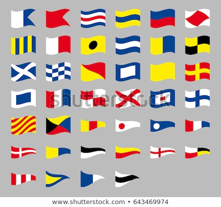 International maritime signal nautical waving flags, isolated on gray background  Stock photo © ukasz_hampel