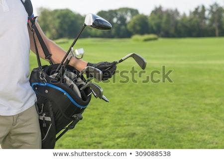 гольфист · сумку · Привлекательная · женщина · гольф · одежду - Сток-фото © lichtmeister