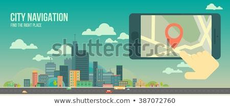 グローバル · インターネット · 物事 · スマート · 市 · 人 - ストックフォト © rastudio
