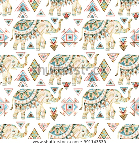 floral Romantic pattern with paisley and triangles Stock photo © Margolana