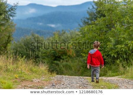 jovem · bebê · menino · caminhada · parque · feliz - foto stock © anna_om