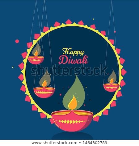 beautiful ethnic style happy diwali festival banner stock photo © sarts