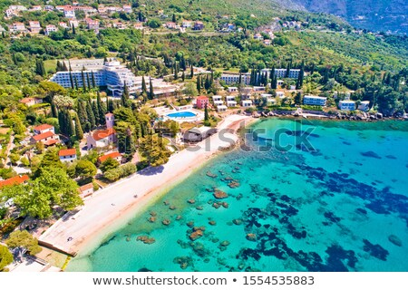 Adriatic village of Mlini waterfront and beach aerial view, Stock photo © xbrchx