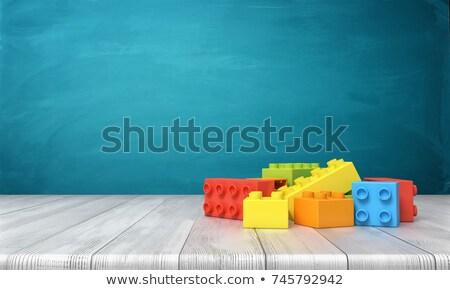 Zestaw 3D budynków wielokondygnacyjnych cegieł wiele kolory Zdjęcia stock © SArts