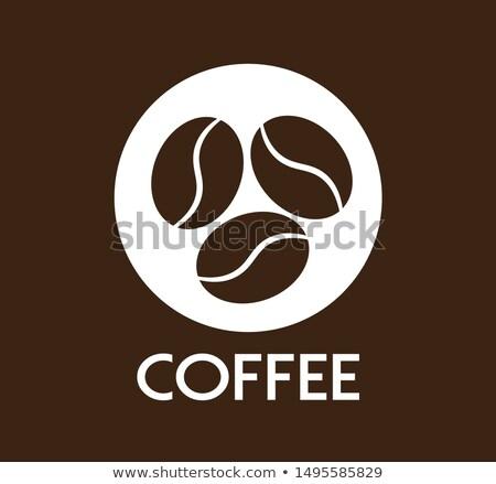 Heißen duftenden Kaffeebohnen Prozess Kaffee Stock foto © LoopAll