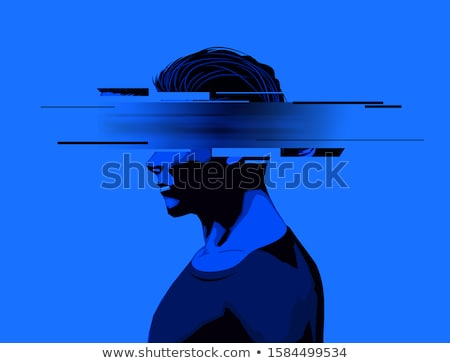 Young Man With a Partially Obscured Face Stock photo © solarseven