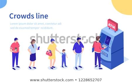 Isometrische atm geld technologie achtergrond teken Stockfoto © Mark01987