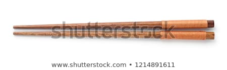 Pair of wooden chopsticks Stock photo © magraphics