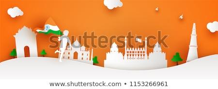 Indian creatieve vlag ontwerp republiek dag Stockfoto © SArts
