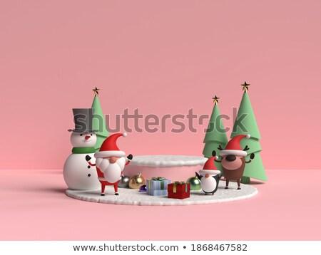 Cartoon reindeer pastel pink 3D Stock photo © djmilic