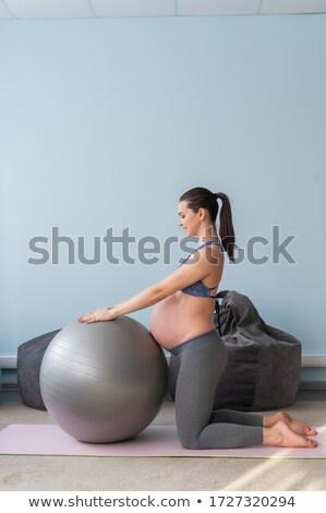 美人 妊婦 スポーツ 海 夏 ストックフォト © ElenaBatkova