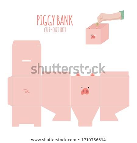 寄付 かわいい ピンク 貯金 リニア 男性 ストックフォト © vectorikart