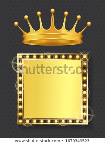 Framed Banner Gold Vintage Style Corona Royal Stock photo © robuart