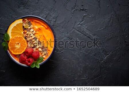 Tazón frescos saludable zalamero yogurt naranja Foto stock © dash