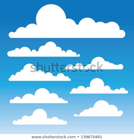 Coleção azul fofo nuvens muitos formas Foto stock © SArts