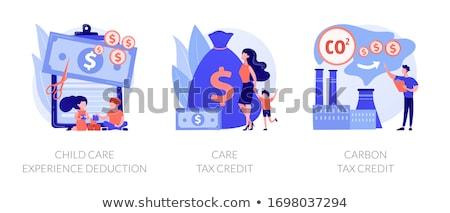 Tax deduction, exemption and credit vector concept metaphors Stock photo © RAStudio