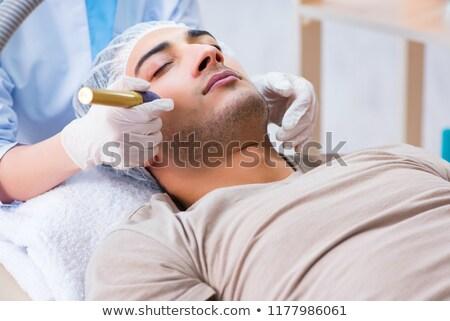 Nő lézer seb eltávolítás arc orvos Stock fotó © Elnur