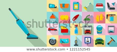 car washer icon set Stock photo © ayaxmr