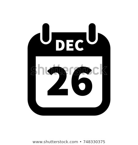 Semplice nero calendario icona 26 dicembre Foto d'archivio © evgeny89