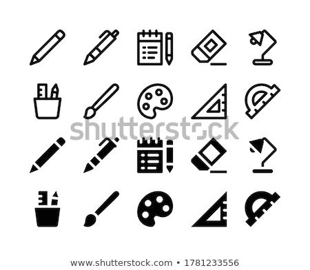Design gráfico bloco de notas paleta cor escove monocromático Foto stock © yupiramos