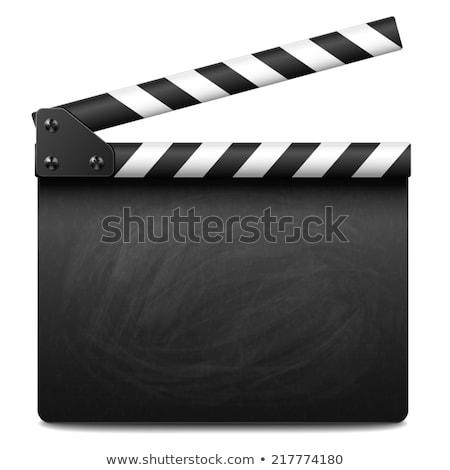 movie clapper board stock photo © oblachko