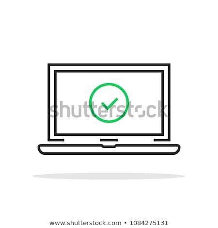 Laptop ikon vektor skicc illusztráció felirat Stock fotó © pikepicture