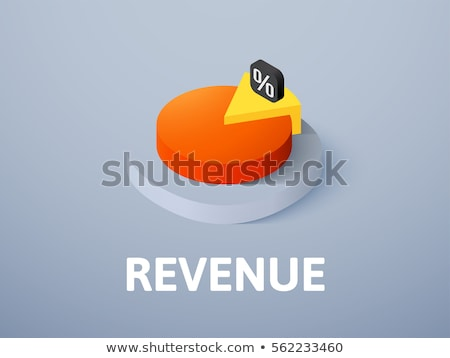 pie chart in computer icon vector outline illustration Stock photo © pikepicture