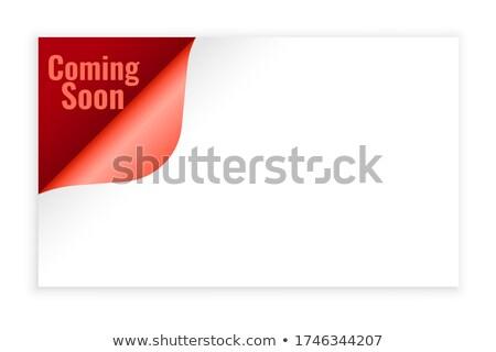 coming soon background in page curl style design Stock photo © SArts