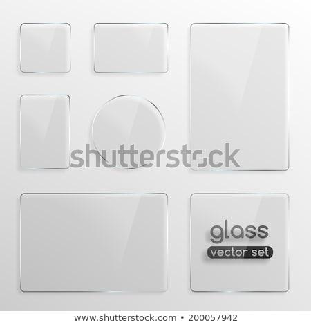 Vidro quadro conjunto quatro quadros Foto stock © OliaNikolina