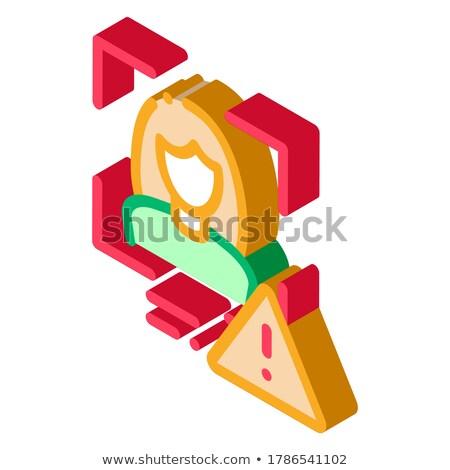 Identity Alert Woman isometric icon vector illustration Stock photo © pikepicture