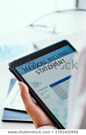 Médico faturamento comprimido caucasiano homem Foto stock © nito