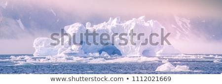 Iklim değişikliği buzdağı buz buzul arktik doğa Stok fotoğraf © Maridav